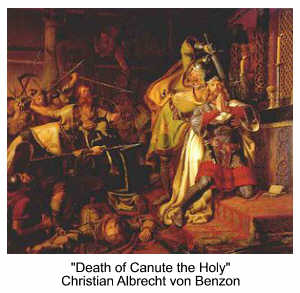 Death of Canute the Holy