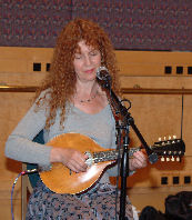 MaryAnn Harris playing the mandolin